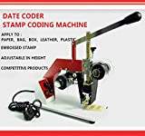JIAWANSHUN 220V 60W Hot Stamping Tool Expiration Date Codes Printing Machine / Date Coder Stamp Coding Machine / Thermal Ribbon Printer Plastic Bags Steel Seal Code