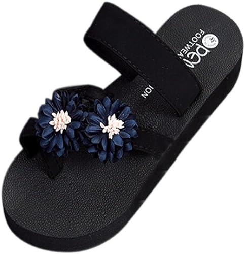 Shumao Flip Flops Sandals 2019 Womens Fashion Summer Casual Elastic Band Flip Flops Work Shoes