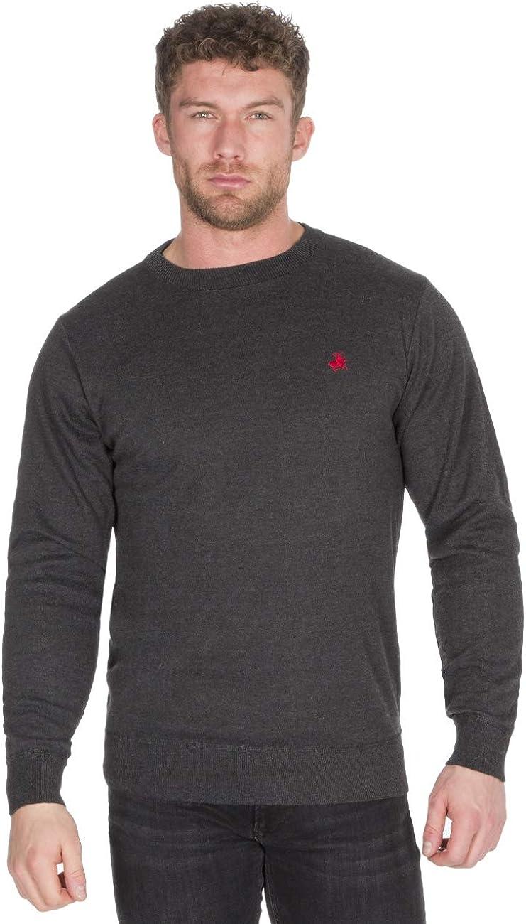Pierre Cardin Mens Contrast Crew Sweatshirt Jumper T Shirt Top Pullover Sweater