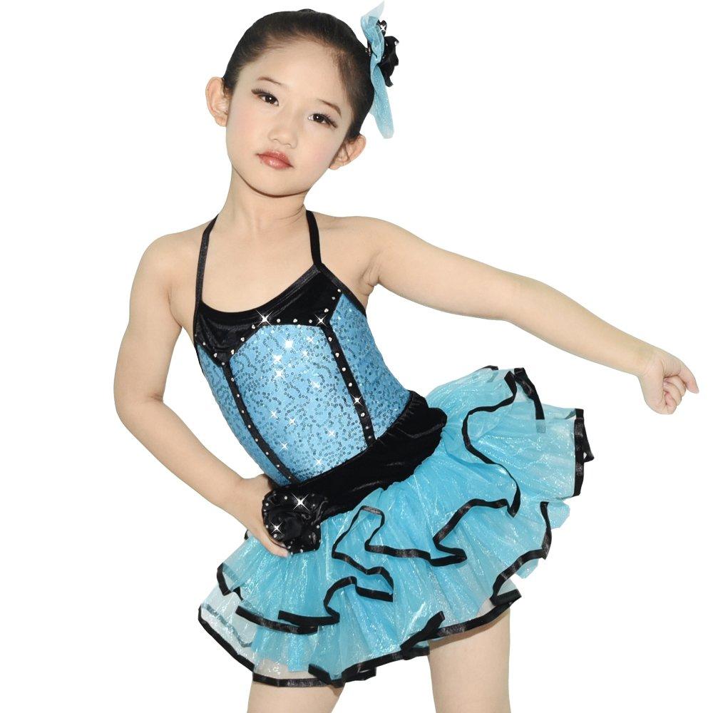 Bleu Ciel Midee Ballet Tutu Danse Costume 2 pièces 3 couleurs Robe pour petite fille IC