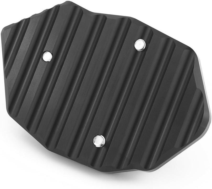 b-style Heinmo accessori moto CNC in alluminio laterale supporto cavalletto Sidestand Extender piastra Pad piede cavalletto laterale ingrandire Pad cavalletto per Kawasaki Z650/Z900/2017/2018/