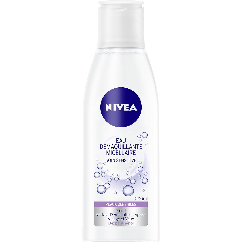 Nivea Eau Démaquillante Micellaire Soin Sensitive Peaux Sensibles 200 ml - Lot de 4 Nivea visage