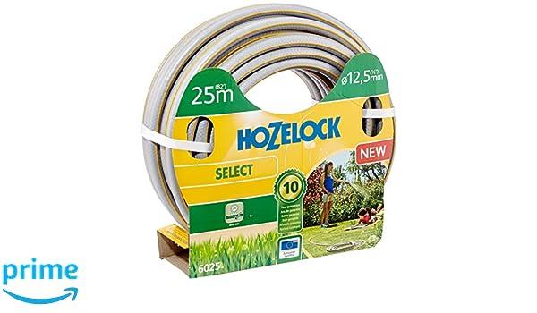Hozelock 6025P0000 25m PVC Gris, Amarillo - Manguera de jardín (25 m, Gris, Amarillo, Sólo mangueras, PVC, 1, 25 cm, Francia): Amazon.es: Jardín