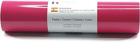 Lámina de plotter autoadhesiva lámina de vinilo 21 cm x 3 m brillo 39 colores a elegir, Glänzend L-Serie:Hot Pink: Amazon.es: Hogar