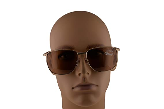 Persol Miller 2463-S Sunglasses Gold w/Brown Lens 59mm ...