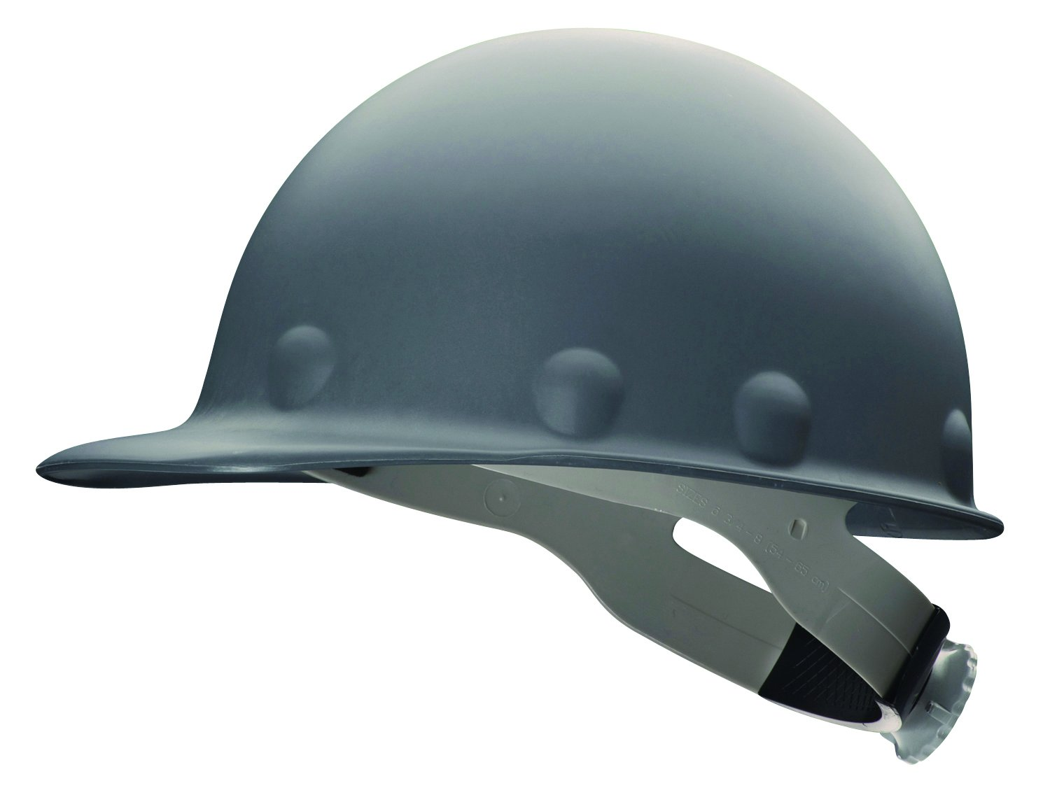 Fibre-Metal Hard Hat P2RWGY Hard Hat with Ratchet Suspension, Fiber-Metal Injection, Molded Fiberglass, One Size, Grey