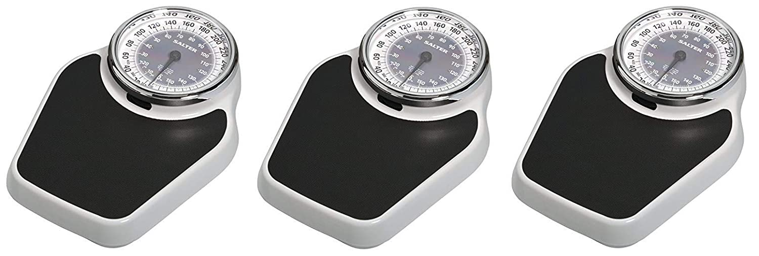 Salter Professional Analog Mechanical Dial Bathroom Scale, 400 Lb. Capacity 916WHSVLKR