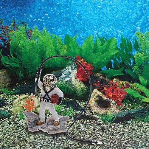 ... de aire buceador del tesoro del mar pecera acuario Regalo de resina Decoraciones subacuaticas para el jardin de casa: Amazon.es: Productos para mascotas