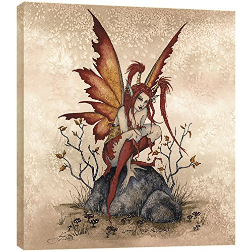 (Tree-Free Greetings Little Red Mischief Fairy EcoArt Wall Plaque, 11.2 x 0.5 x 11.2 Inches (AP83549))