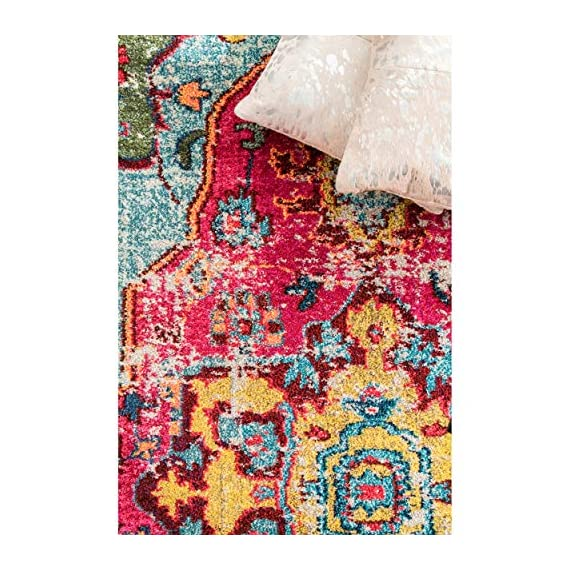 "nuLOOM Corbett Vintage Boho Runner Rug, 2' 6"" x 8', Multi - Made in Turkey PREMIUM MATERIAL: Crafted of durable synthetic fibers, it has soft texture and is easy to clean SLEEK LOOK: Doesn't obstruct doorways and brings elegance to any space - runner-rugs, entryway-furniture-decor, entryway-laundry-room - 61sYYv AdHL. SS570  -"