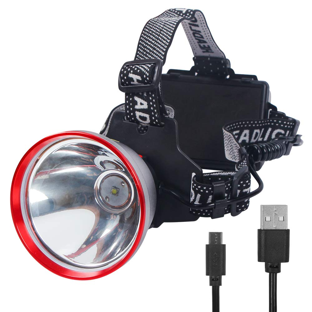 14 vatios e impermeable IP44 linterna frontal con copa de l/ámpara de aleaci/ón de aluminio de aviaci/ón Linterna frontal inteligente recargable FISHNU proyector LED Lumius-T40 14 vatios