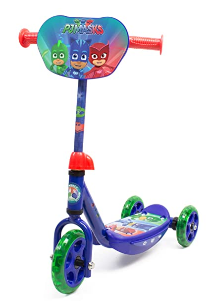 PJ Masks OPJM110 Kids Three Wheel Tri Scooter with Adjustable Handlebar and Front Plate
