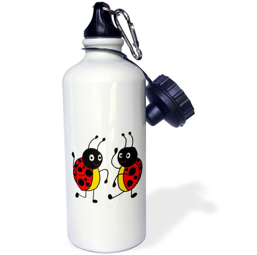 3dRose Funny Dancing Ladybugs-Sports Water Bottle Multicolored 21oz wb/_195228/_1