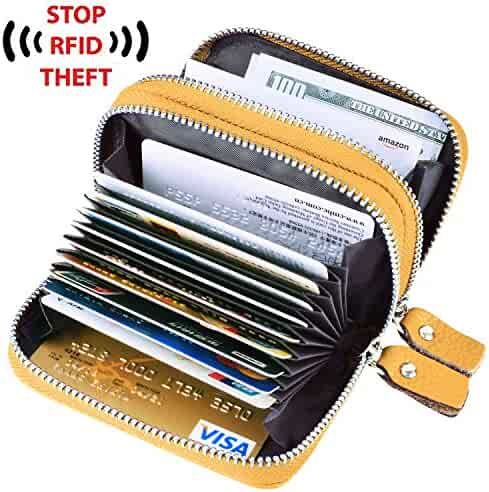 Maxgear Stainless Steel RFID Credit Card Holder for Women or Men RFID Credit Card Wallet Protector, RFID Metal Credit Card Case for Holding Credit Cards, ID cards