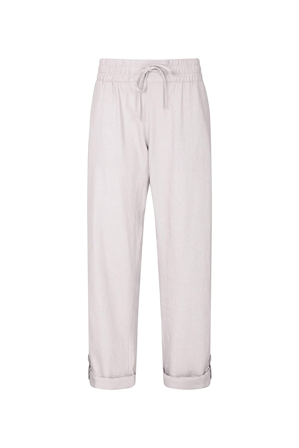 Best Clothing for Hiking Lightweight Ladies Summer Trousers Easy Care Mountain Warehouse Breeze Linen Blend Womens Trousers Outdoor Pockets Drawstring Pants