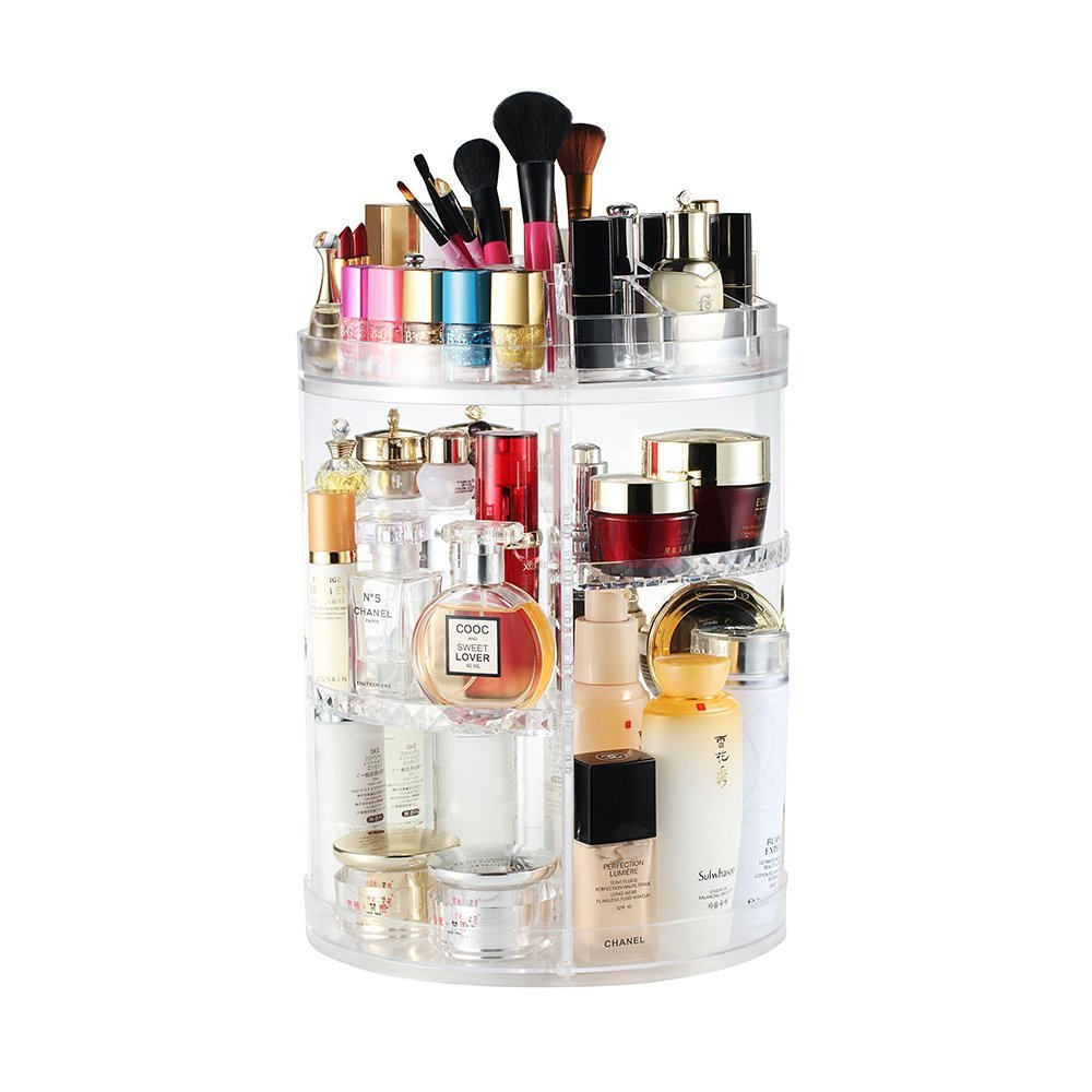 heine home Beauty-Organizer,Um 360° drehbar Kosmetikbox, großen 8er contouring Paletten fü r Dresser, Schlafzimmer, Badezimmer von Boxalls