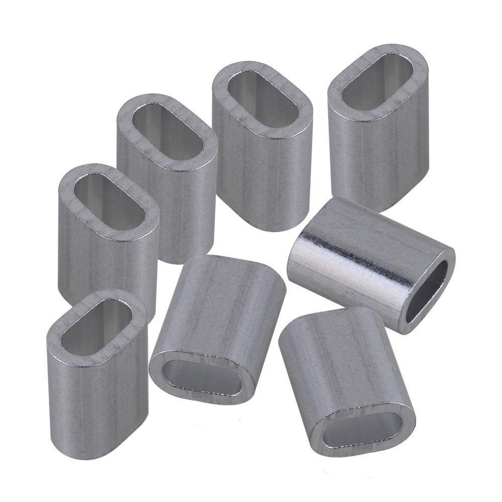 CNBTR 100pz M3 Ovali Alluminio Puntale Morsetti Pressatura Gancio Tramutante for yqltd
