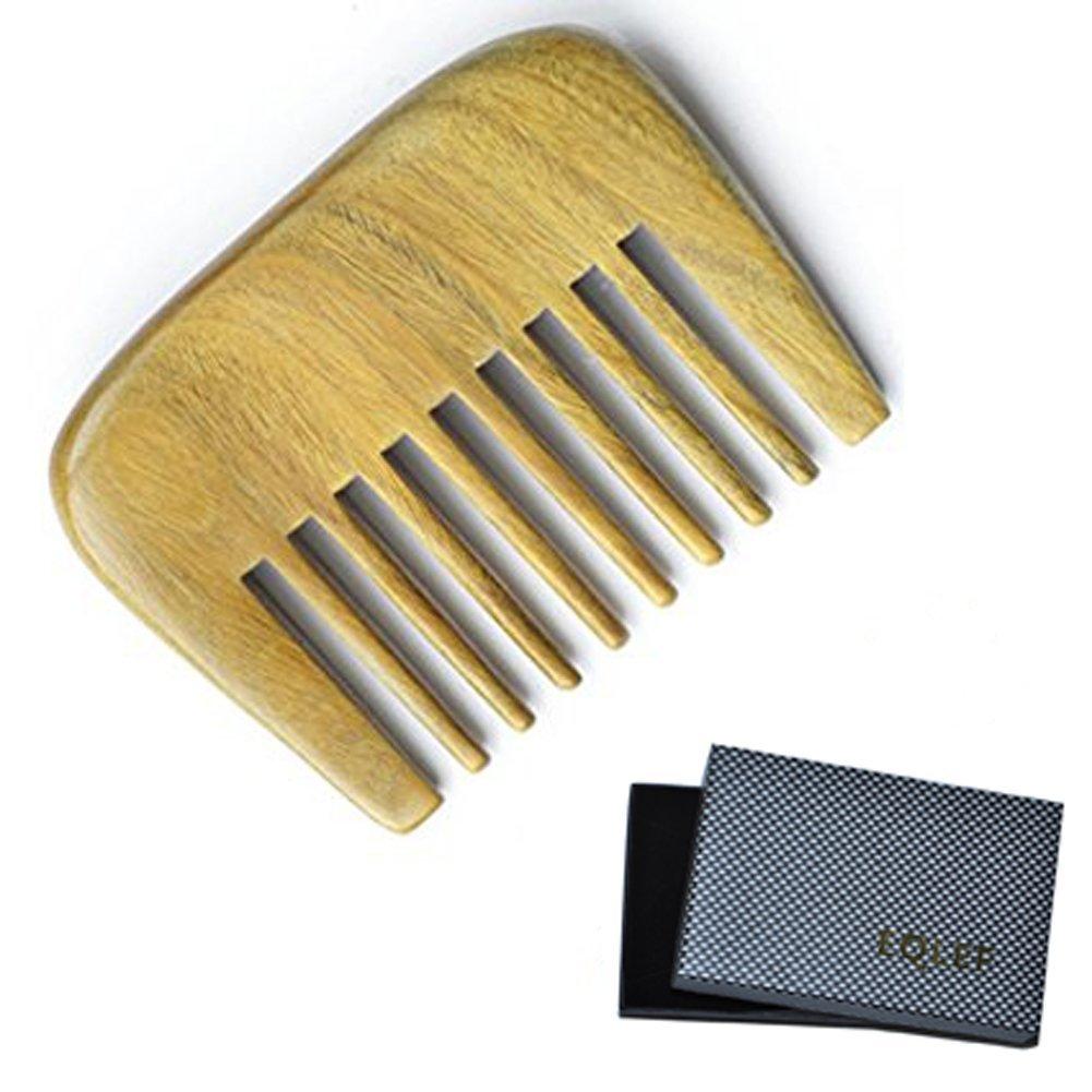 EQLEF Gran regalo para las mujeres Diente Medio peine hecho a mano Yak Cuerno peine talladas a mano peine, con la caja hermosa (patrón de phoenix) EQLEF®
