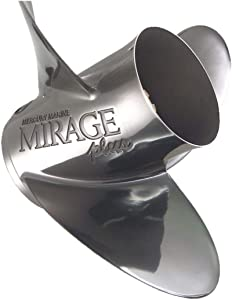 Mercury Marine Mirage Plus 15-1/2 x 17 Stainless Steel 3-Blade Propeller Prop