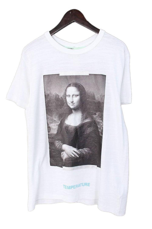 (オフホワイト) OFF-WHITE 【18SS】【MONALIZA】モナリザプリントスリムフィットTシャツ(L/ホワイト×ブラック) B07FFWJKLB  -