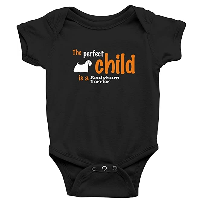 Teeburon Perfect Child Is A Sealyham Terrier Baby Bodysuit