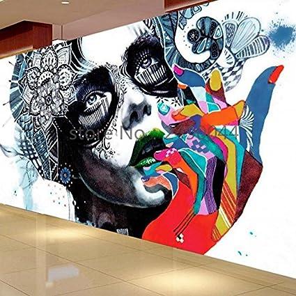 Lwcx Custom 3d Graffiti Beauty Photo Wallpapers Living Room