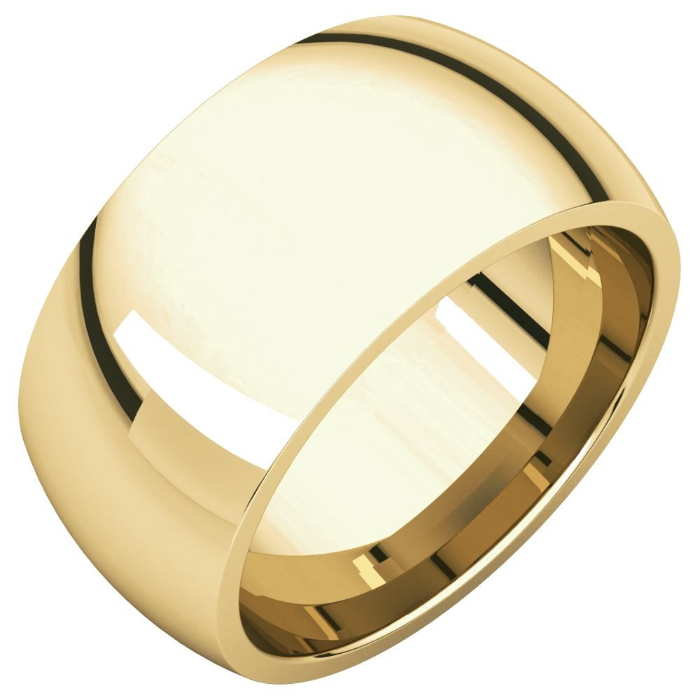 14k Yellow Gold 10mm Comfort Fit Band - Size 8