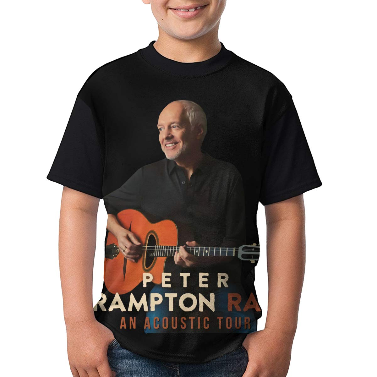 LisaJYancey Peter Frampton T Shirt Youth Boy Shirt Round Neck Short Sleeve Tees