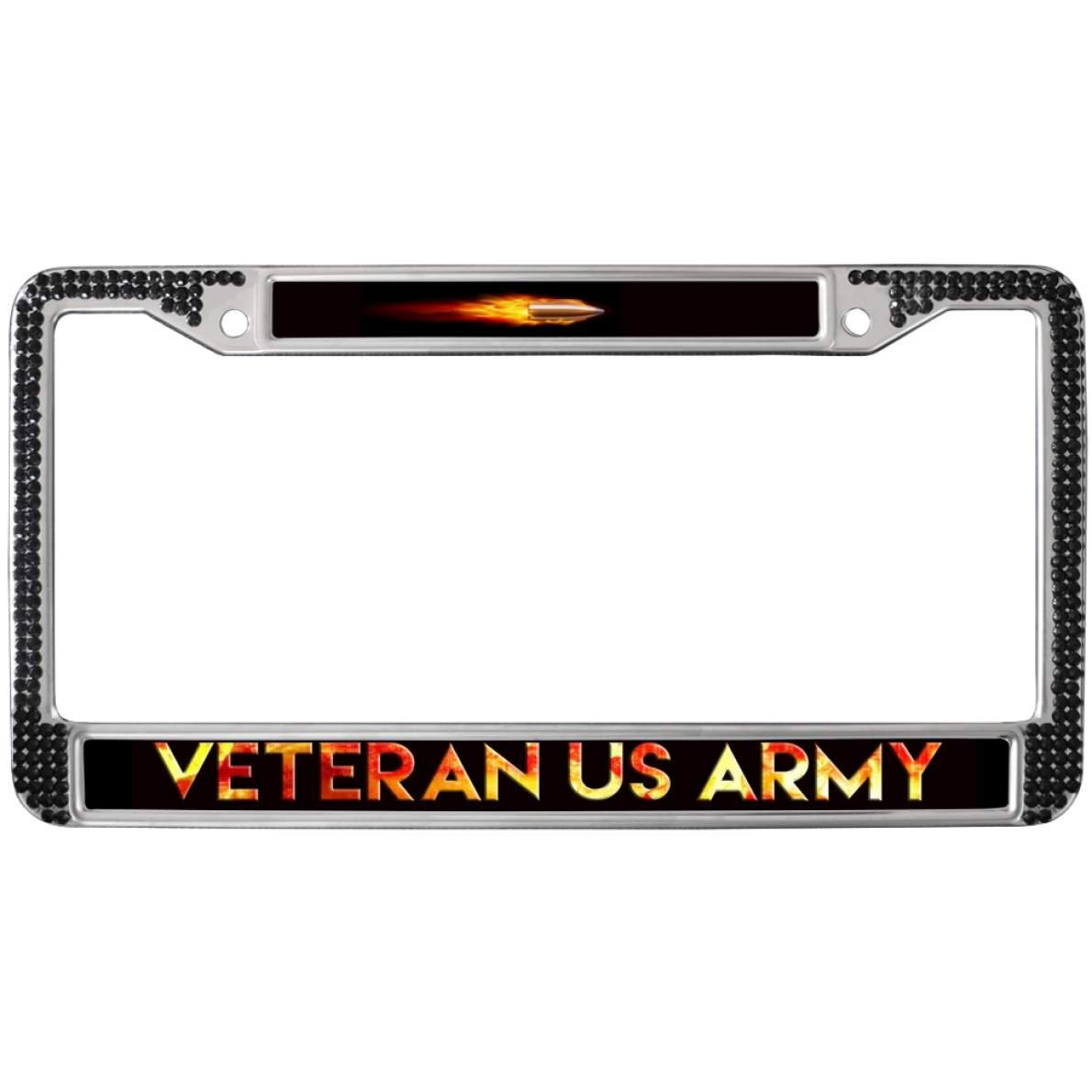 Custom License Plate Covers >> Amazon Com Gnd Personalized License Plate Frame Stainless