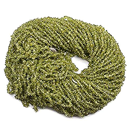 5 Strands (34inches) of Real Natural Peridot Gemstone Chips Beads. wholesale price. Prepared exclusively by GemMartUSA.