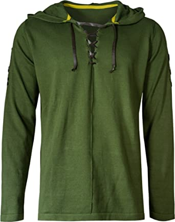 Musterbrand Zelda Hoodie Herren Link Cape Unisex Hoodie Sweatshirt mit Kapuze Gr/ün