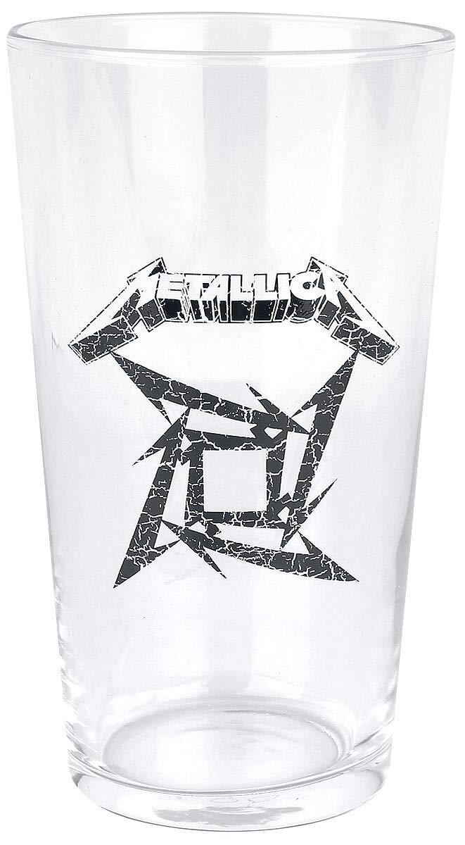 Metallica Ninja Star Logo Vaso de Cerveza transparente ...