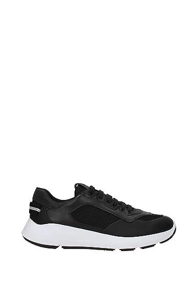 032ba54ff24ae Prada Sneakers Herren - Gummierte Leder (4E3172NERO) 43 EU  Amazon ...
