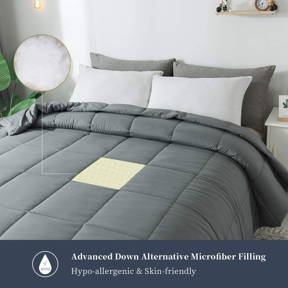 Amazon coupon code for Decroom Grey Down Alternative Comforter for Bed