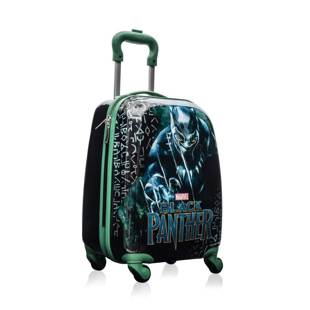 Marvel Black Panther Kids 18インチのスピナーは男の子のための旅行荷物を運びます   B07LBRBWZ4