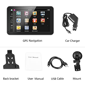 Pantalla táctil de 7 pulgadas Navegación GPS Navegador GPS Mapas Dispositivo Dispositivo internacional 128M 8GB FM