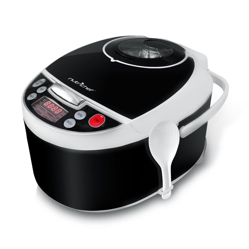 NutriChef Electric Pressure Cooker - Countertop Multi-Cooker with Preset Cooking Modes, Digital Display