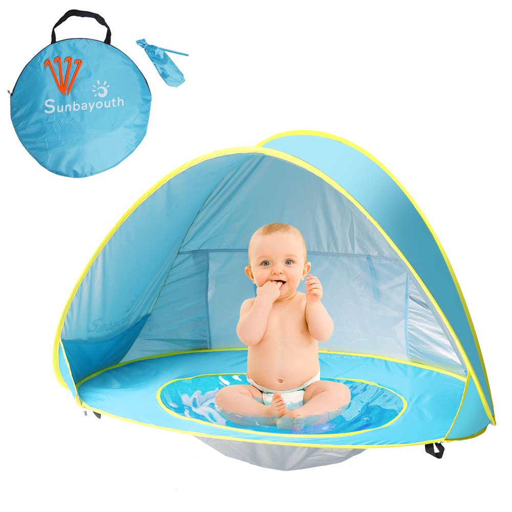 uk availability 500cf 67ffc Details about Baby Beach Tent Beach Umbrella, Sunba Youth Pop Up Tent, UV  Protection Sun