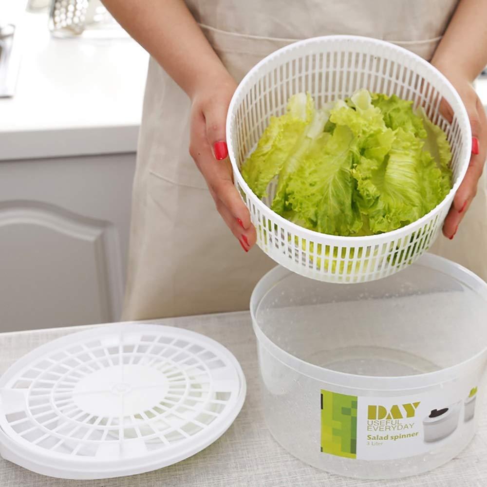 Aich Salad Dryer Salad Spinner Washing Vegetable Fruit Dehydrator Home Creative Kitchen Supplies Salad Spinner Water Drain Basket by Aich