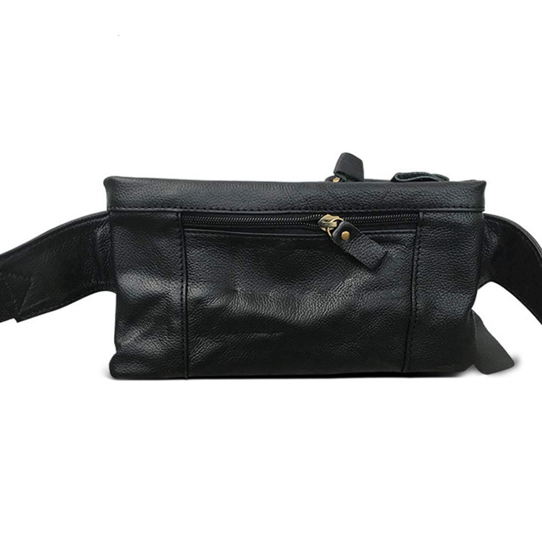Color : Black RABILTY Belt Holster Bag Fanny Waist Pack Crossbody Bag for Men Boy Black Cowhide Travel Money Belt RFID Blocking