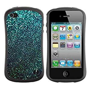 Suave TPU GEL Carcasa Funda Silicona Blando Estuche Caso de protección (para) Apple Iphone 4 / 4S / CECELL Phone case / / Teal Snow Winter Stars Abstract /