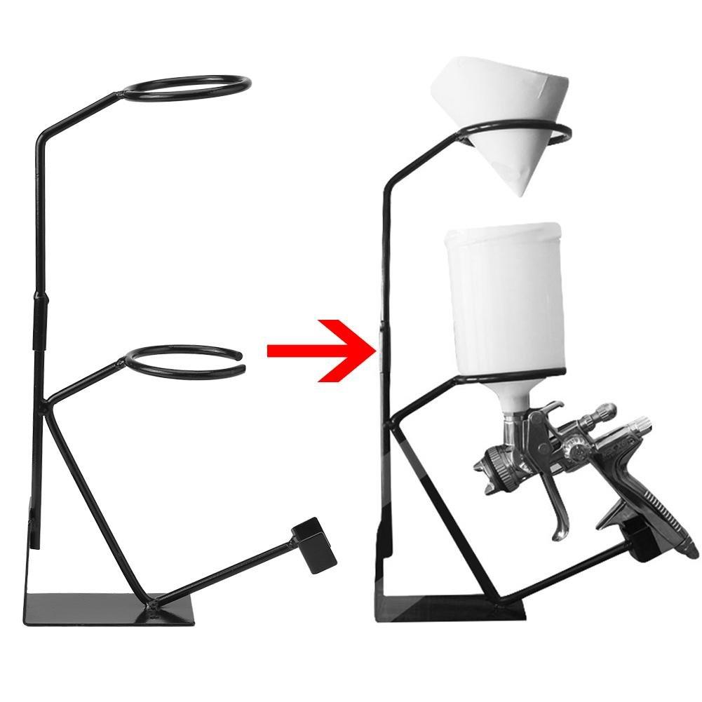 soporte de pulverizador Pintura de alimentaci/ón por gravedad Soporte de soporte de pistola pulverizadora Soporte de pulverizador con soporte de filtro Pintura de banc Soporte de pistola pulverizadora