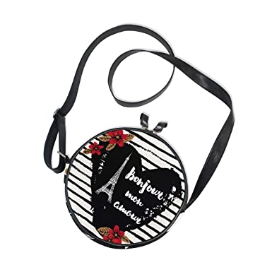 KEAKIA Flamingo Round Crossbody Bag Shoulder Sling Bag Handbag Purse Satchel Shoulder Bag for Kids Women