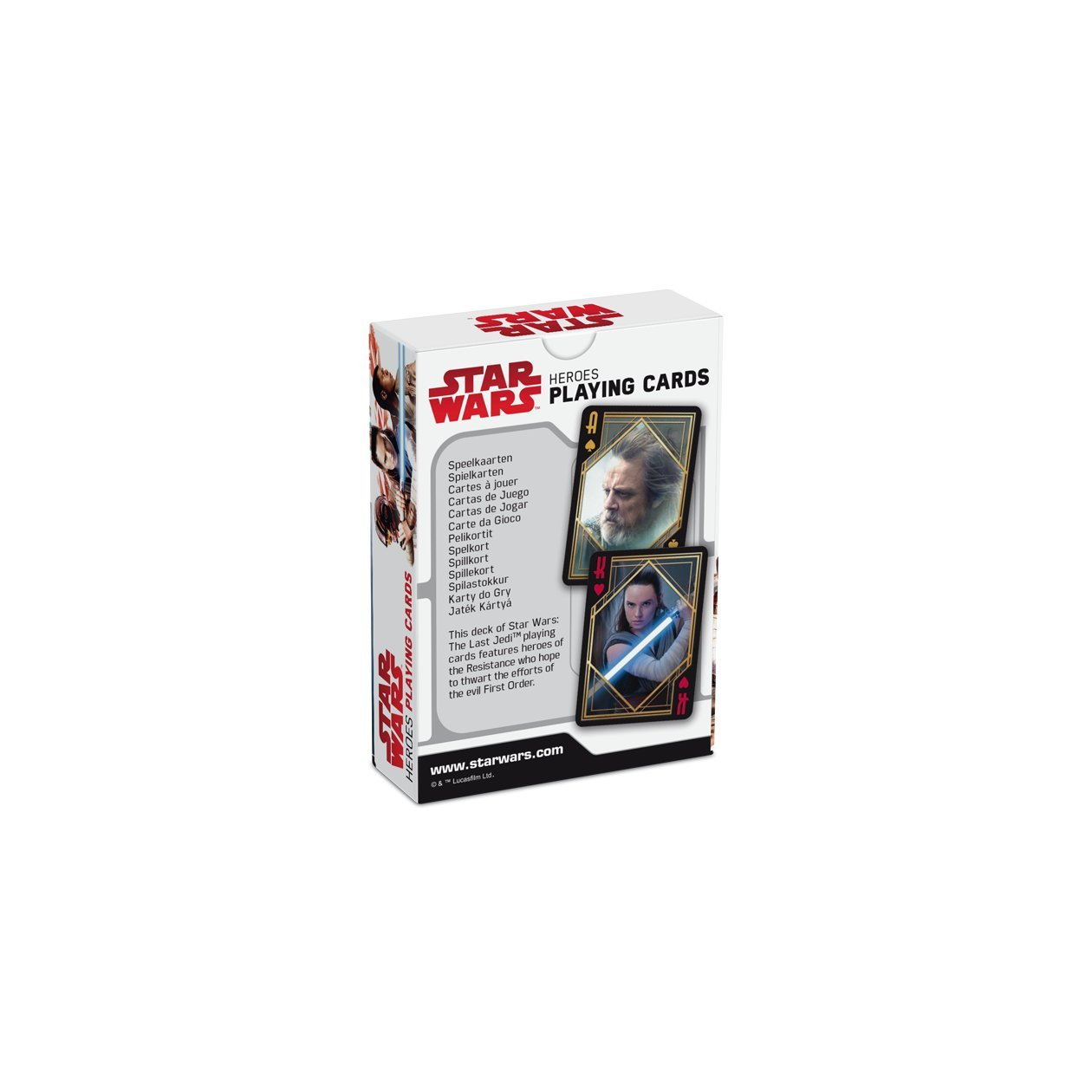 Amazon.com: Star Wars : The Last Jedi Heroes Playing Card ...