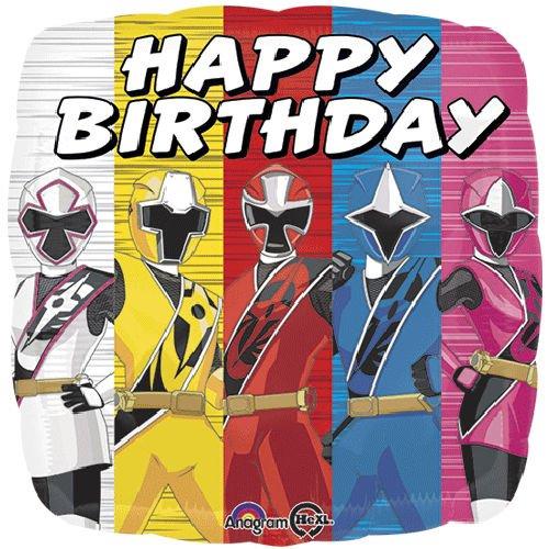 power rangers birthday Amazon.com: 7 pc Power Rangers Ninja Steel Happy Birthday Balloon  power rangers birthday