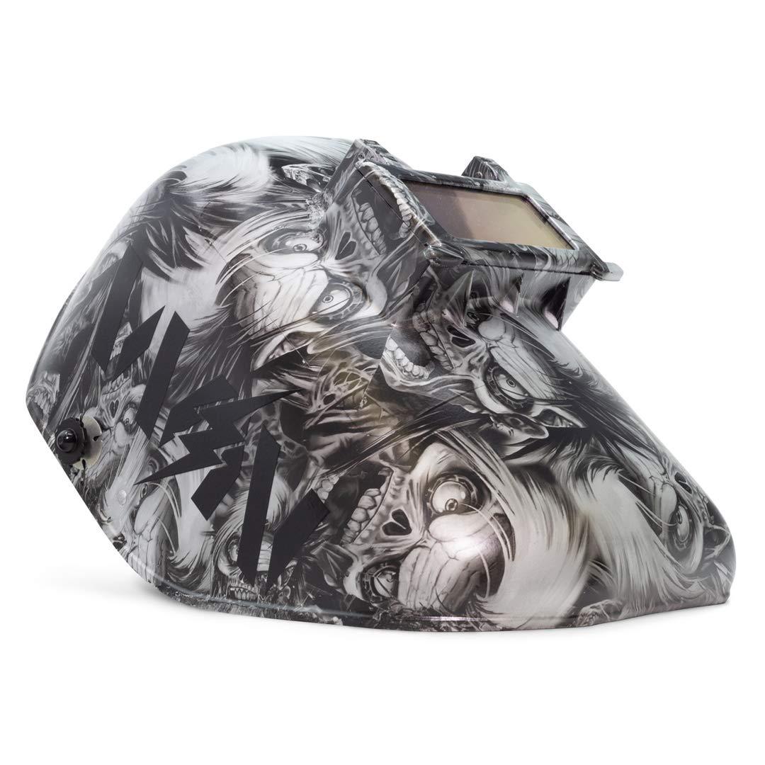 Welder Nation Hydro-Dipped Honeywell Fibre-Metal Tigerhood Classic Welding Helmet Black, Silver