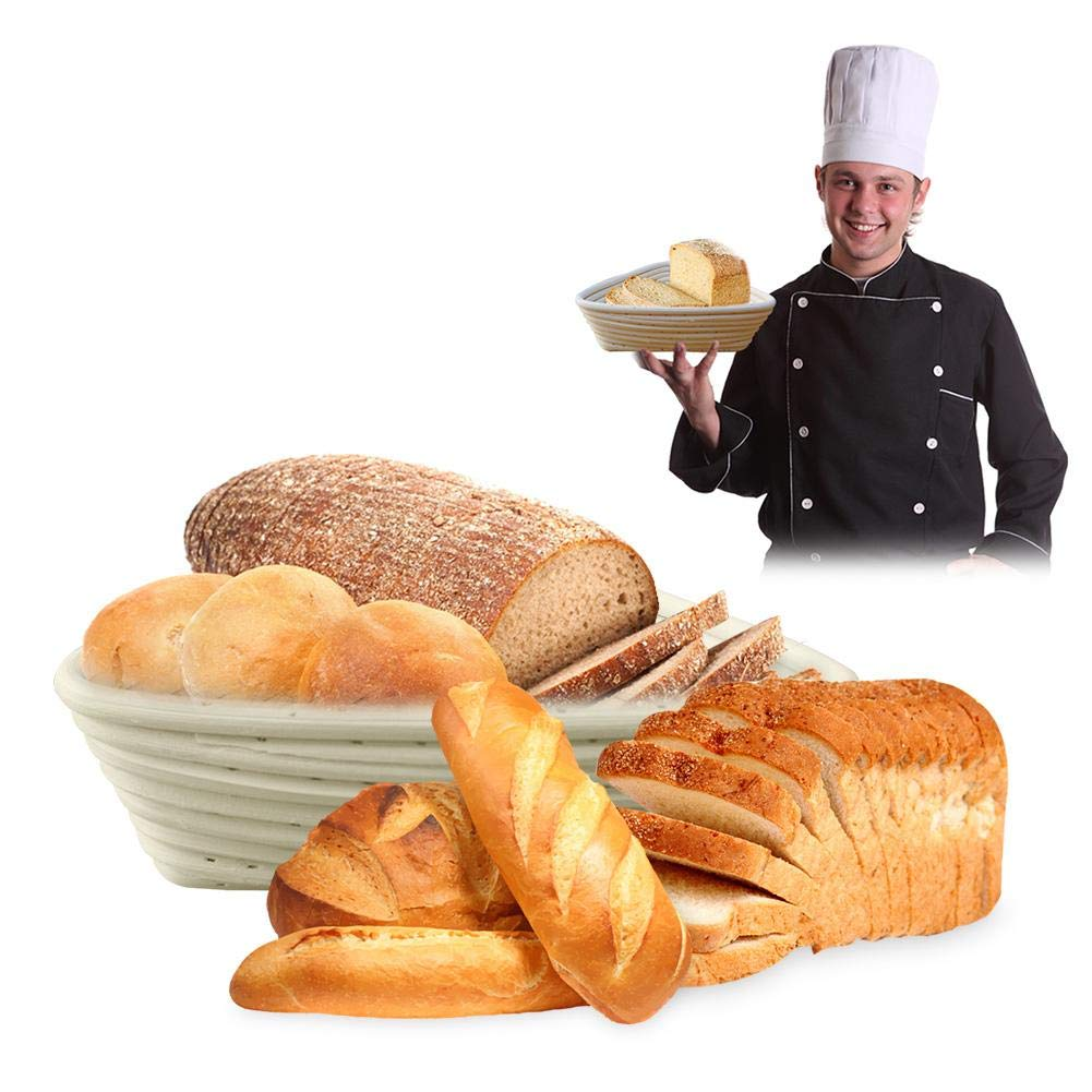Anna-neek Cesta a Pan panera Mimbre Banneton Panificadora en Forma triángulo Pan Pasta Cuenco de Madera con ratán Hechos a Mano Ideal para Faire cuire el ...