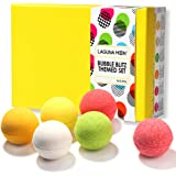 Lagunamoon Bath Bombs Gift Set, Natural Organic Handcrafted Fizzy Bath Bombs with Essential Oils, Great Gift Idea for Women Relaxation, Kids for Fun, Men sore Muscles Relief