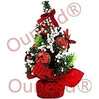 Sapin de Noel Miniature 20cm Noel Déco Interieux (Rouge)