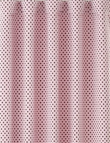 pottery barn kids audrey chenille chocolate brown and pink polka dots fully lined with blackout drapes - Pottery Barn Kids Curtains